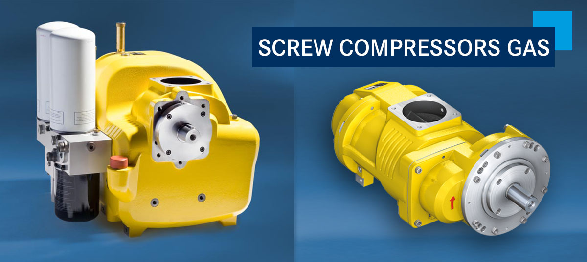 SCREW COMPRESSORS GAS